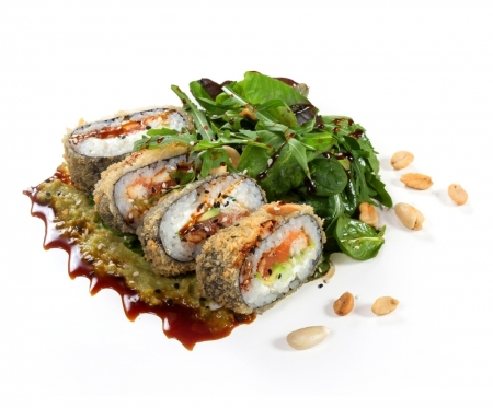 Crunch-ролл с лососем