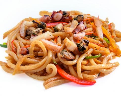 Яки-Удон с морепродуктами