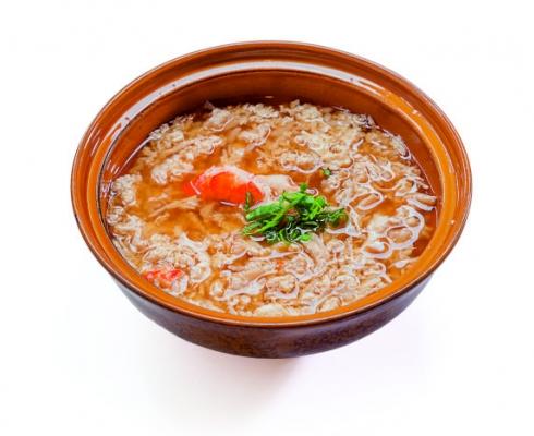 Суп с мясом Краба и рисом