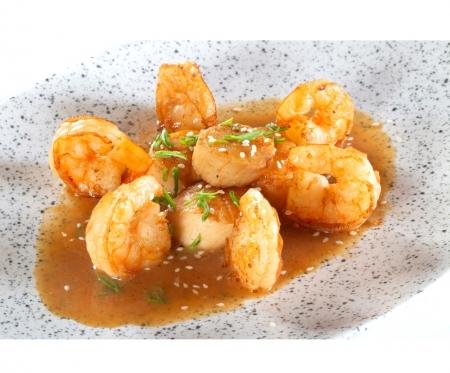 Морской гребешок с креветками